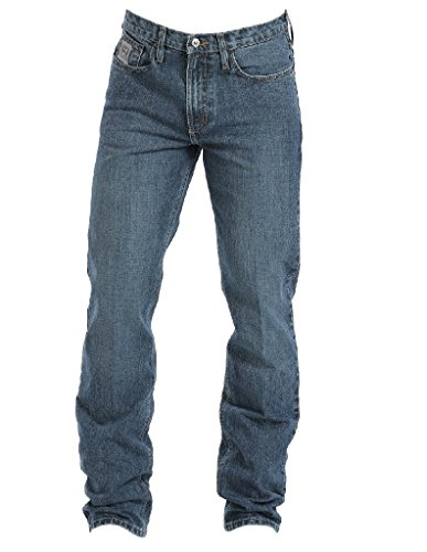 Cinch Men's Silver Label Slim Fit Jean, Medium Stone Wash, 32W x 34L
