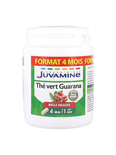 Juvamine BRULE GRAISSE - THE VERT GUARANA 1600mg, MAXI FORMAT 120 gélules