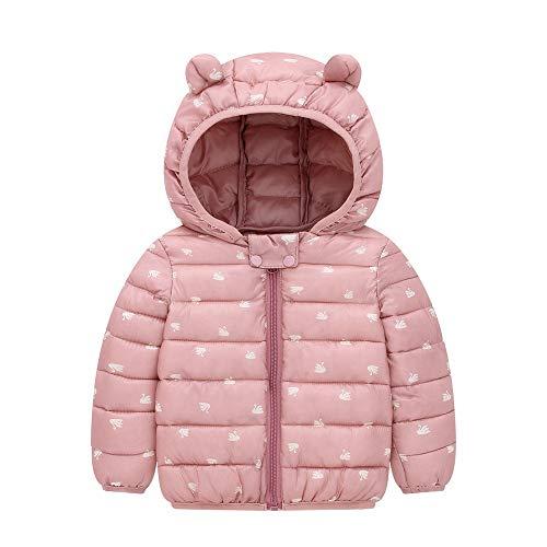 Veste à capuche Kid Automne et Hiver Nouveau bébé Lumière capuche en coton Vêtements hommes et les femmes for enfants Cartoon Coton Manteau Manteau d'hiver mince ( Color : Blue , Size : 90cm )