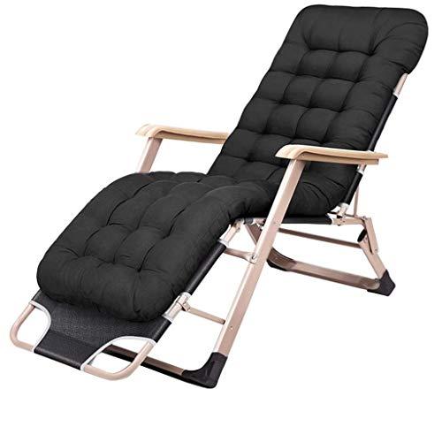 FHISD Schwerelosigkeit Stuhl Patio Klappbare Rasen Lounge Stühle Outdoor Lounge Gravity Stuhl Camp Liegesessel mit Wattepad und Kissen