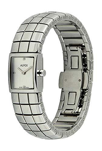 ALFEX Reloj de pulsera analógico de cuarzo para mujer con correa de acero inoxidable 5451