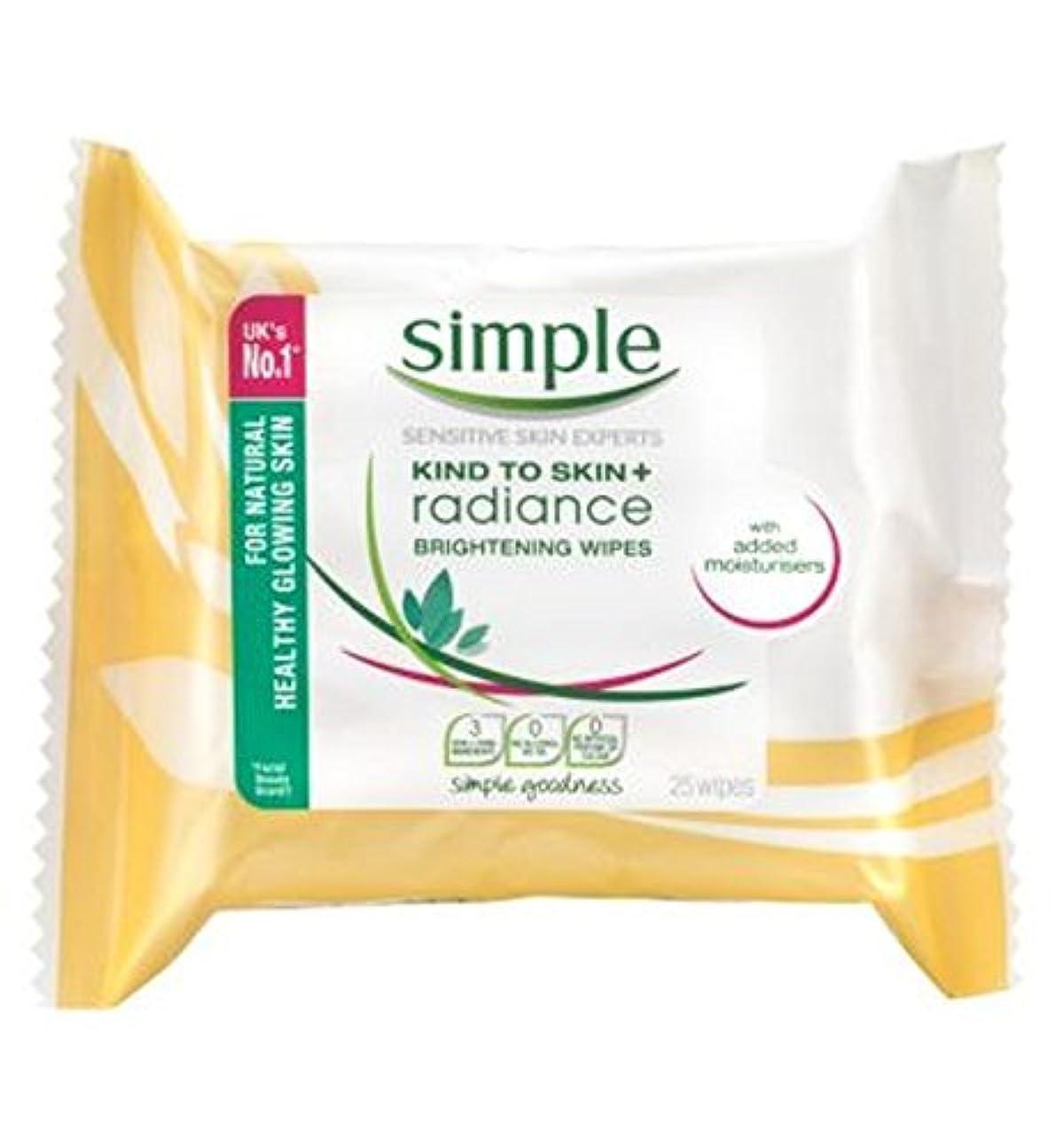 金属反逆者素人シンプルな輝きの光沢クレンジングは、25秒をワイプ (Simple) (x2) - Simple Radiance Brightening Cleansing Wipes 25s (Pack of 2) [並行輸入品]