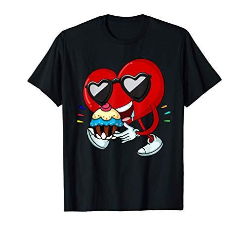 Los corazones de los dibujos animados comen pastelitos Camiseta