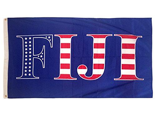 Phi Gamma Delta USA Pattern Letter Fraternity Flag 3 feet x 5 feet Banner Sign Decor FIJI (Flag - USA)