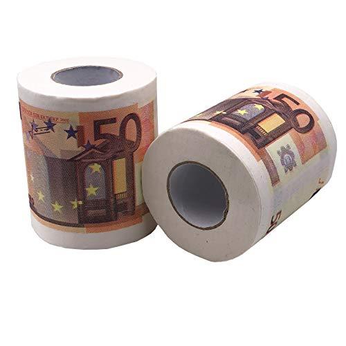 JuniorToys Toilettenpapier 50 Euro 2 Rollen Party-Gag Scherzartikel