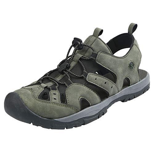 Northside Men's Burke II Athletic Sandal, Dk Olive, 9 M US