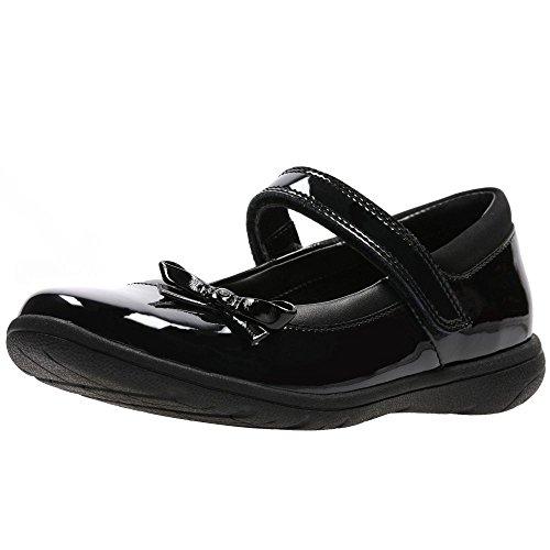 Clarks Venture Star, Girls' Ankle-Strap, Black (Black PatLea), 2.5 UK (35 EU)