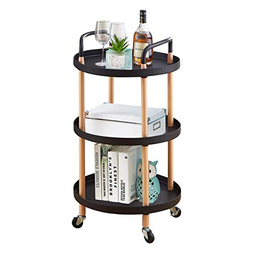 Homelove Storage Trolley Cart, 3 Tier Rolling Cart Kitchen Trolley On...