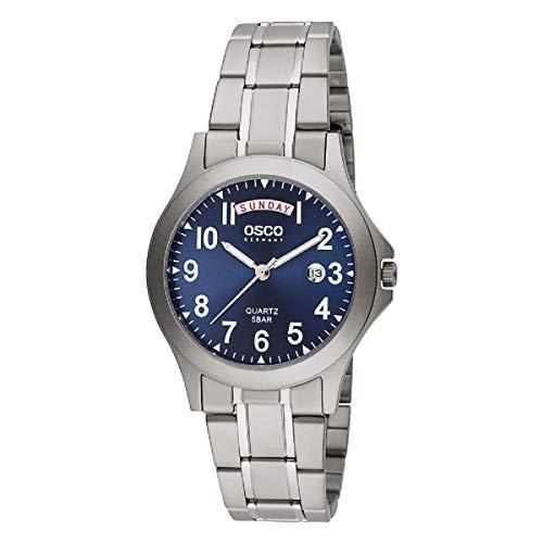 OSCO Germany Herren-Titan-Uhr Analog mit Titan-Armband 02283022