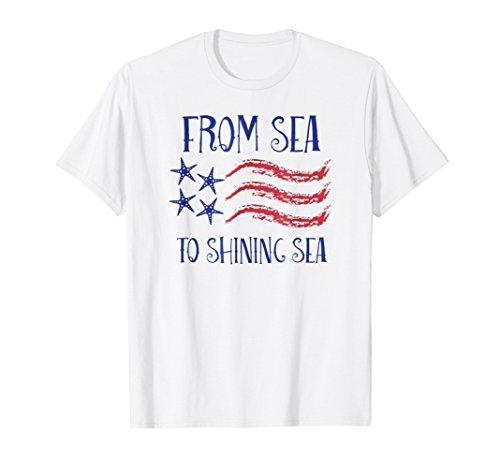 From Sea to Shining Sea Starfish Patriotic Flag Shirt