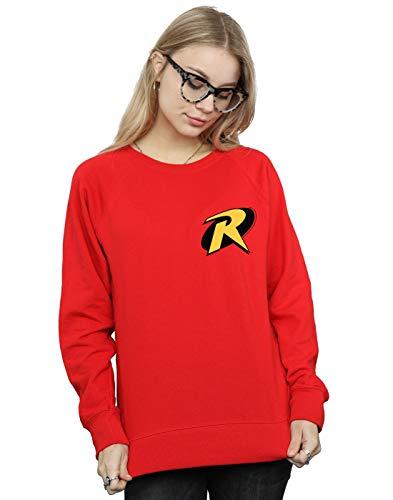 DC Comics Damen Batman Robin Logo Sweatshirt Rot X-Large