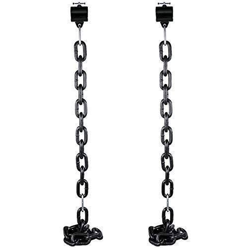 VEVOR Cadenas de Elevación Sólidas para Cuerpo 16 kg Cadenas Levantamiento Pesas Negro 1.6m Ajustable Enlace Cadena Hueco Olímpicos Cadenas de Entrenamiento para los Entrenamientos Múltiples…