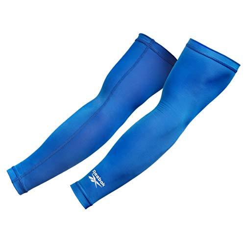 Reebok Mangas de brazo de compresión, Adultos Unisex, Azul, M-25-30 cm