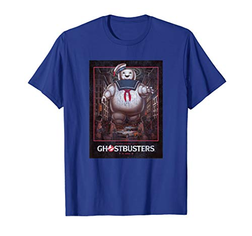 Ghostbusters Stay Puft Vintage Poster T-shirt, Adults, Youth, 5 Colors
