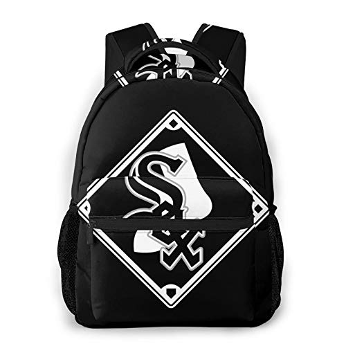 Chicago White Sox Backpacks Large Travel Laptop Backpack for Unisex Business Computer Bag School Bookbags 16 Inch
