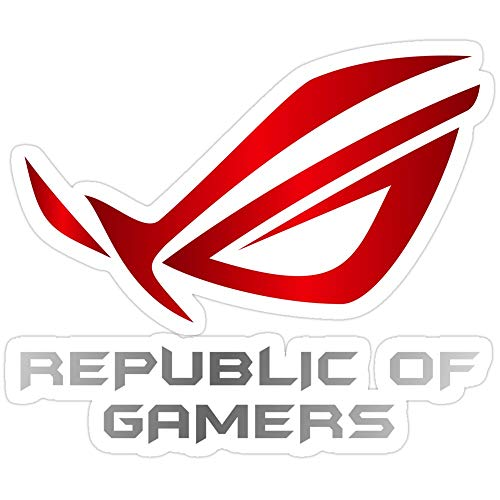 Sticker Vinyl Decal for Cars, Water Bottle, Fridge, Laptops Asus Republic of Gamers Stickers (3 Pcs/Pack)