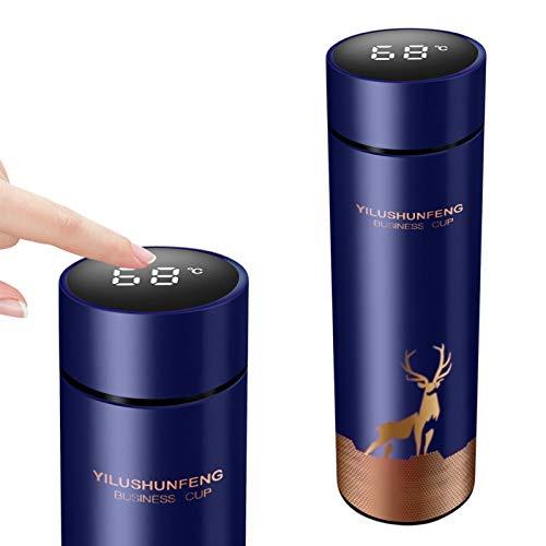 Galapare Termo Taza 500 ml Inteligente de Temperatura Botella aislada al vacío LED Táctil Inteligente con Temperatura, Inoxidable Botella de Agua al vacío a Prueba de Fugas Taza de café Taza de Viaje