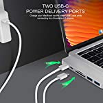 """HyperDrive USB C Hub, Sanho USB-C Duo 7-in-2 for MacBook Pro Air, Magnetic Grip HDMI 4K60Hz HDR 100W PD 40Gbps USB 3.1 11 Historical most crowdfunded Macbook accessory on Kickstarter and Indiegogo. World's Most Compact and Fastest USB C Hub specifically designed for MacBook Pro and MacBook Air.(Dual-USBC-port design on USB-C hubs is HyperDrive' PATENT.) Dual USB-C Data & Power Delivery: HyperDrive is the only MacBook Pro/Air USB C hub with two USB-C ports that support Power Delivery (PD) & Data (40Gbps/max 100W/5K video output + 5Gbps/max 60W). Expand the two USB-C ports on MacBook Pro/Air into 7 ports (High-Resolution 4K HDMI, 40Gb/s USB-C, 5Gb/s USB-C, SD, microSD, 2 x USB 3.1). HyperDrive DUO 7-in-2 USBC Hub is compatible with MacBook Pro 16"""" 2019 2018 2017 2016 13""""/15"""" and MacBook Air 2019 2018."""