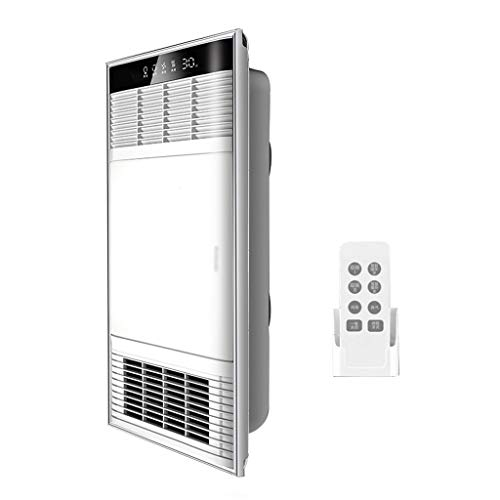 GXFC Deckenventilator für Badezimmer, Abluftventilator LED Beleuchtung Licht Heizlüfter und Lüfter, 4-in-1 Heizen et Entlüftung, Leiser Betrieb/Fernbedienung, Fest verdrahtet