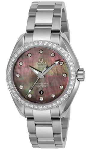 [オメガ] 腕時計 シーマスターアクアテラ グレ-パール文字盤 コーアクシャル自動巻き シースルーケースバック、クロノメーター 231.15.34.20.57.001 レディース 並行輸入品 シルバー