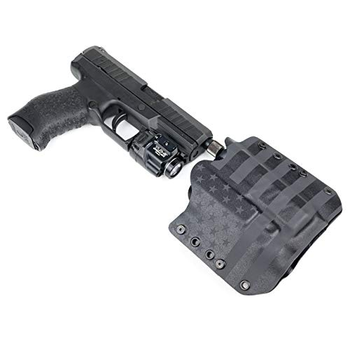 """OWB Holster - TLR-8, TLR-8A, TLR-8G - USA Stealth Black (Right-Hand, for Springfield XDM - 4.5"""" Model)"""