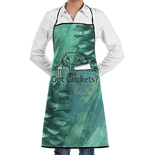 wallxxj Apron Got Crickets Restaurant Kitchen Delantal De Chef Unisex Personalizar Babero Clásico Delantal De Cocina Bib Cocina para Hornear Bodas Duradero para El Día De La Madre Cocina P