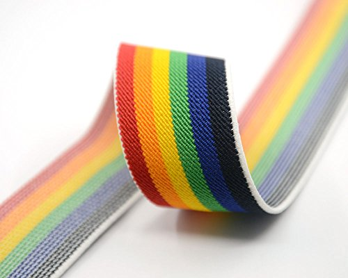 iCraft 1.5-inch Wide by 3-Yard Colored Striped Elastic Band 42150