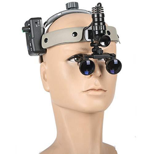 Magnifier Occhiali da Laboratorio Lente d'Ingrandimento Vetro Ottico 3,5X-2,5X con Lampada Frontale A LED Fauay,3.5X