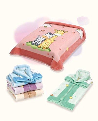 Belpla Baby Sac Baby Sac Babydecke Ster Säckchen, 100% Polyester, lila, 80x 90cm