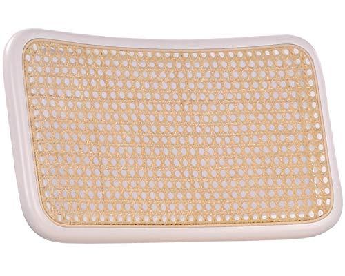 pemora Rückenlehne für Schwingstuhl mit Wiener Geflecht in Natur und Rahmen aus ausgesuchtem Buchenholz in weiß