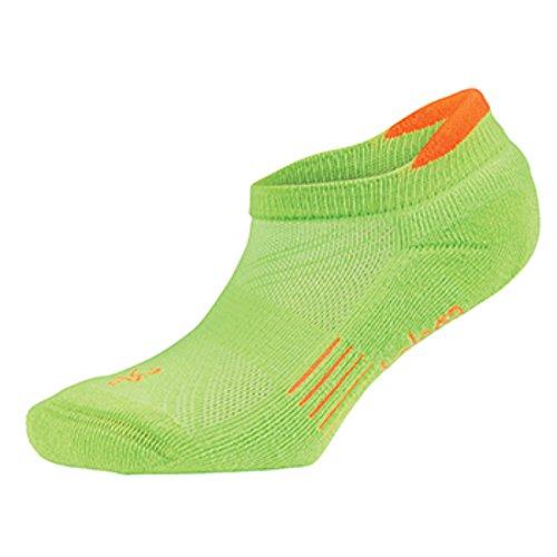 Balega Kids Hidden Cool Socks (1 Pair), Lime Green/Neon Orange, Medium