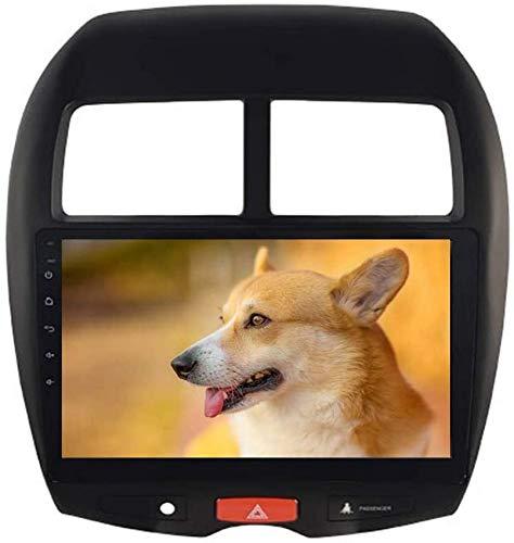 FGVBC 10.2'Navi 1 DIN Car Stereo Bluetooth Compatible con Mitsubishi ASX 2010 2011 2012 Peugeot 4008 Citroen C4 Aircross Dab Car Radio GPS WiFi USB Carplay Control del Volante