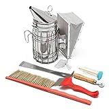 Yongse 8PCS BEE Equipment Smoker Brush Uncapping Fork Queen Catcher Hive Tool Imkerei
