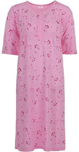 Romesa Lucky - Nachthemd Punkte - Große Größen, Größe:3XL, Farbe:Rosa