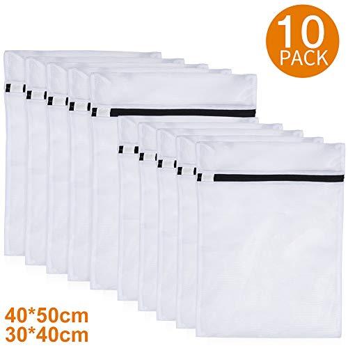 PaiTree 10er-Pack Wäschesäcke für Waschmaschine, Robuste Wäschebeutel aus Netzstoff mit Reißverschluss, Wäschenetze für Delikat, Blusen, BHs, Strumpfwaren, Unterwäsche, Dessous und Babykleidung