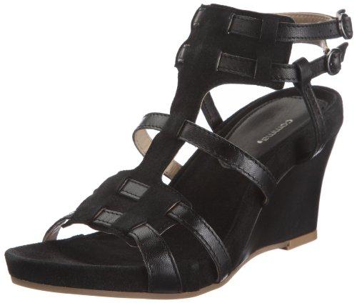 comma Damen Bianca Fashion-Sandalen, Schwarz/Nero, 38 EU