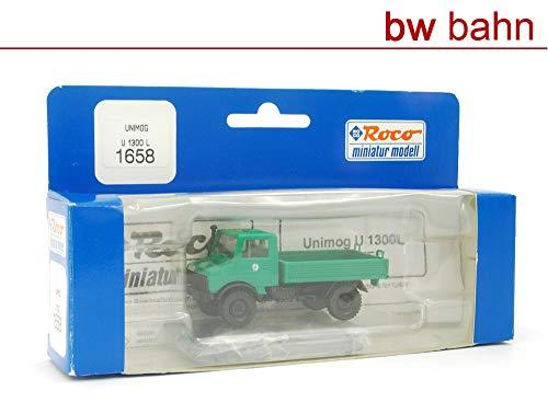 Roco H0 1658 MB Unimog U 1300L Polizei grün Polizeiauto Neu