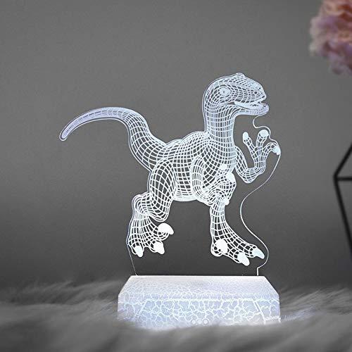 Nachtlicht Neueste Remote Pegasus 3D Light Led Tischlampe Illusion Nachtlicht 7 Farben Stimmungslampe Ändern 3Aa Batteriebetriebene USB-Lampe Onlytouchswitch