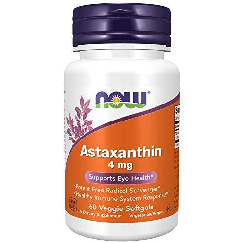 Now Foods Astaxanthin, 4mg - 60 Cápsulas