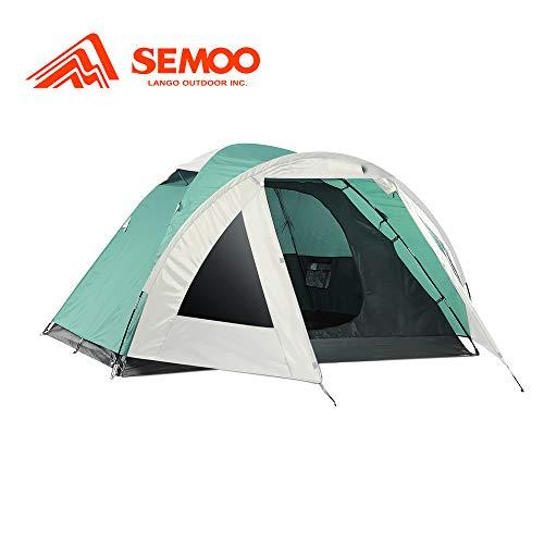 Semoo Kuppelzelt für 2 Personen 3-Jahreszeiten, Familien Campingzelt Wasserdichtes Igluzelt Doppelschicht mit Vorraum