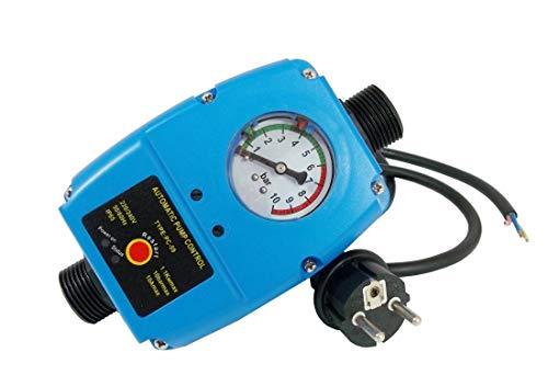 PC-59 Druckschalter Pumpensteuerung 1 Zoll bis 10 bar für Pumpen Druckwächter Tiefbrunnenpumpe Trockenlaufschutz