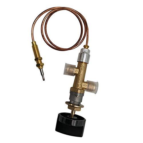 precauti Válvula de regulación de gas de baja presión LPG, chimenea de gas propano de chimenea, quemador de llama, kit de válvula de seguridad, adecuado para chimenea, barbacoa de gas