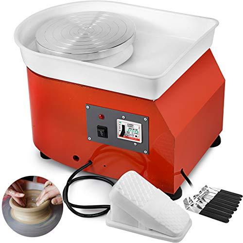 BananaB 350W Electric Pottery Wheel Ceramic Machine 25cm Keramik Radmaschine 220V Ceramic Wheel Machine Radmaschine DIY verstellbare Füße mit Sculpting Set