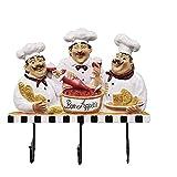 LIPENLI Toalla linda plana Chef pared del estilo de guantes Ganchos Horno/sombrero/casquillo/de la capa/delantal de montaje en pared gancho de la suspensión del estante principal restaurante d