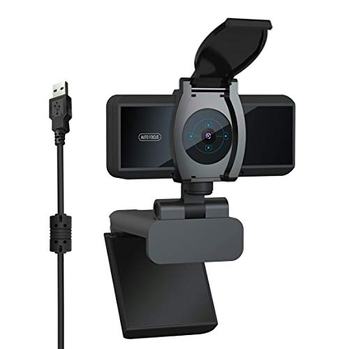 Pumprout 1080P Business Webcam Micrófono Incorporado con Cubierta Cámara de computadora Cámara de Alta definición Cámara Web de Disco Gratis