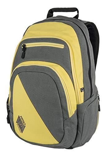 Nitro Stash Rucksack Schulrucksack Schoolbag Daypack Damenrucksack Schultasche schöne Rucksäcke Alltag Fahrradtasche, Gunmetal, 29L