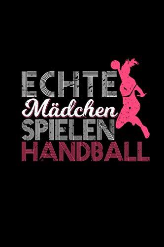Echte Mädchen Spielen Handball: Kalender 2021 a5 Vintage Handballer Geschenk Taschenkalender Notizbuch Wochenplaner