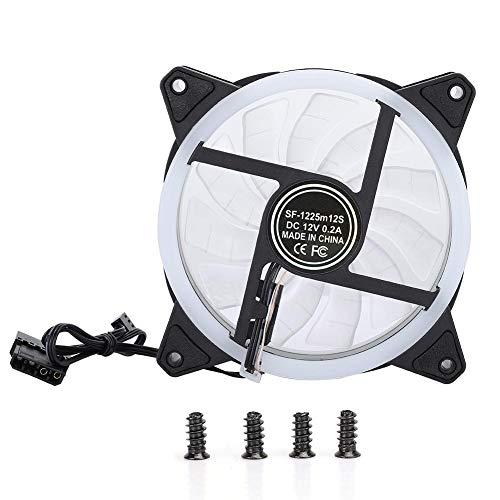Bewinner1 Ventilador LED RGB, 4.7 x 4.7 x 1 Pulgada 3PIN 4PIN Cojinete hidráulico 1200 RPM 29CFM Mínimo silencioso Ventilador de bajo Ruido Colorido Cambio de Color Ventiladores del chasis(Vistoso)