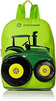 John Deere Boys  Little Kids Girls Toddler Backpack Lime Green One Size