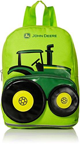 John Deere Boys' Little Kids Girls Toddler Backpack, Lime Green, One Size